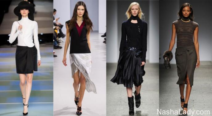 Ассиметричные юбки - модный тренд 2015