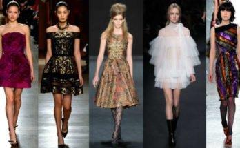Модные коктейльные платья осень-зима