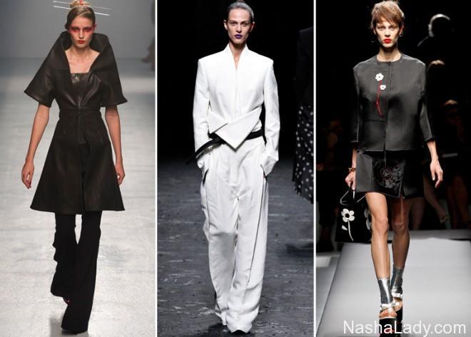 Ассиметричные брюки - модный тренд 2015
