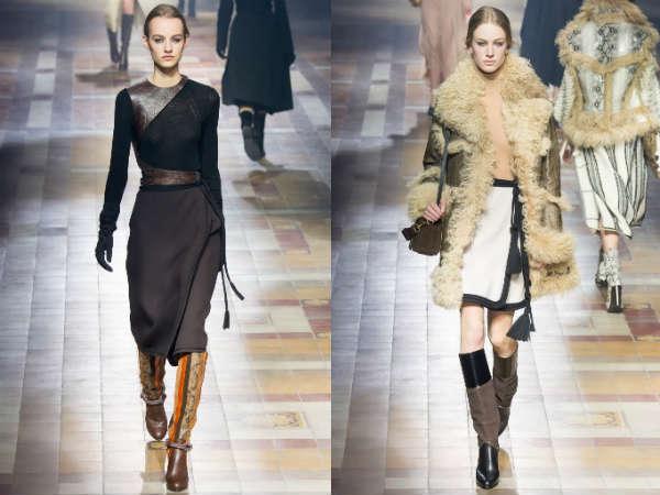 Модные юбки с запахом осень-зима