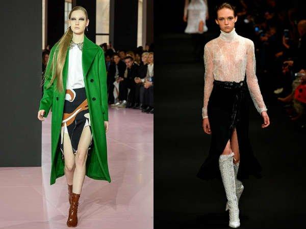 Модные юбки с высокими разрезами осень-зима