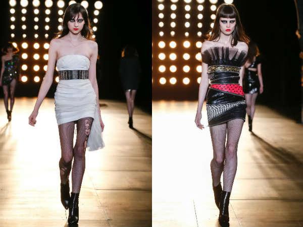 Модные коктейльные платья-бюстье осень-зима