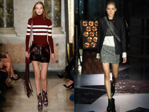 Модные мини-юбки осень-зима