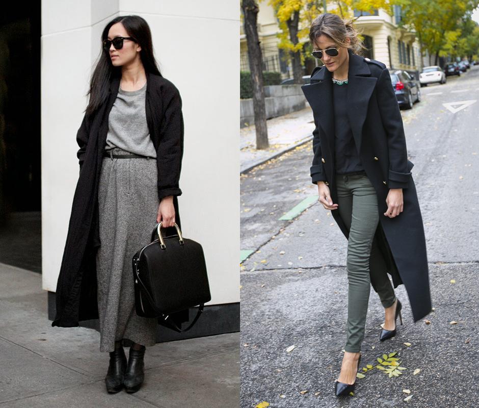 французский стиль пальто