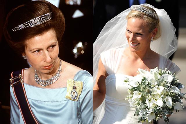 Принцесса Анна и Зара Тиндолл