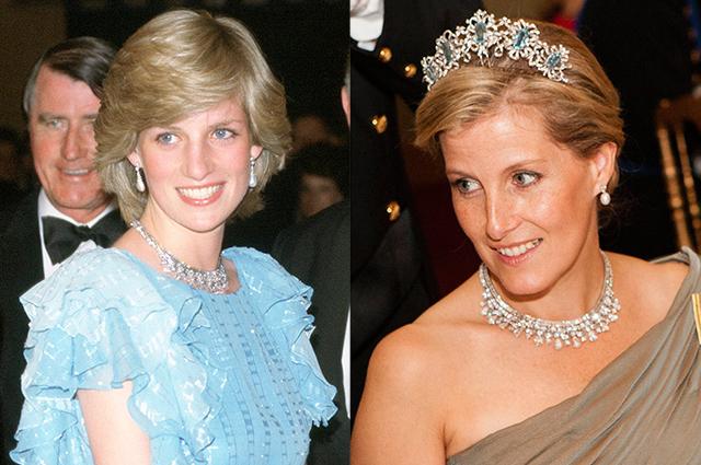 Принцесса Диана и графиня Уэссекская Софи