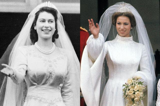 Елизавета II и принцесса Анна
