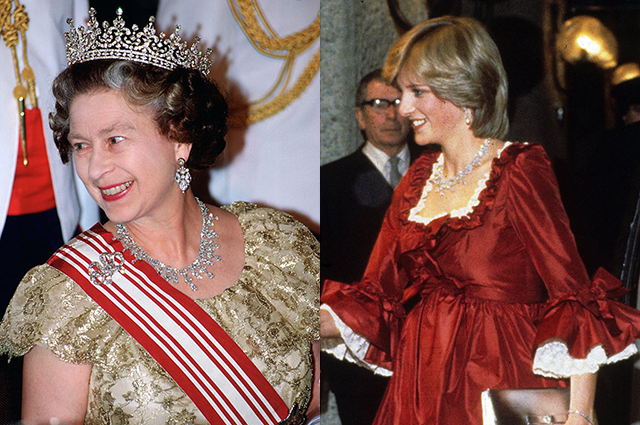 Елизавета II и принцесса Диана