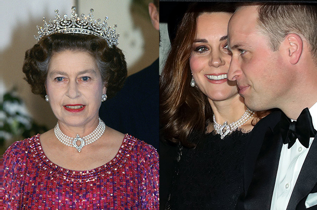 Елизавета II, Кейт Миддлтон и принц Уильям