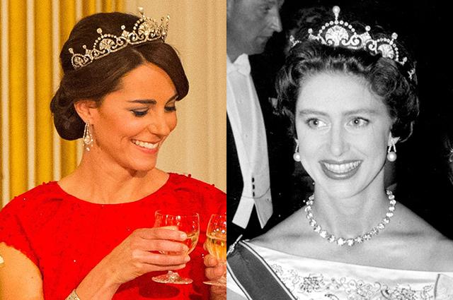 Кейт Миддлтон и принцесса Маргарет