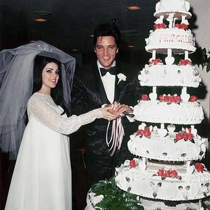 Элвис и Присцилла Пресли торт