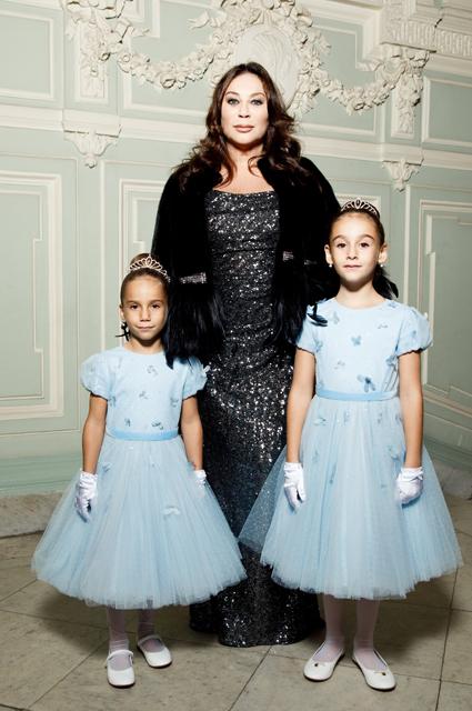 Алла Вербер с внучками