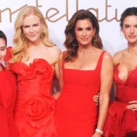 Три грации: Николь Кидман, Синди Кроуфорд и Алессандра Амбросио в ярко-красных платьях в Шанхае