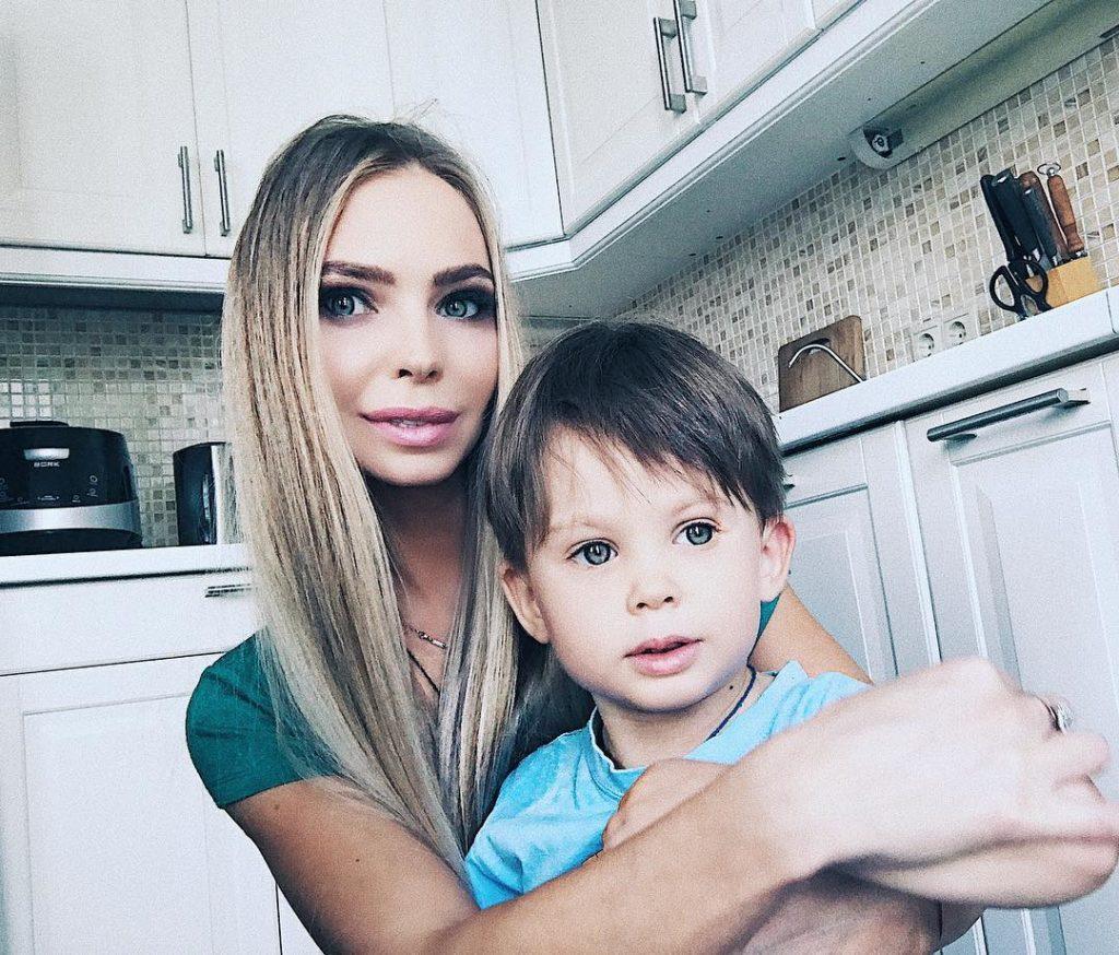 Наталья Горчаков и сын