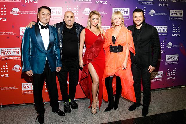 Арман Давлетяров, Иосиф Пригожин, Анна Семенович, Валерия и Эмин Агаларов