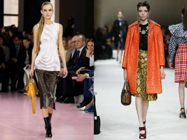 Модные юбки осень-зима: принты и узоры