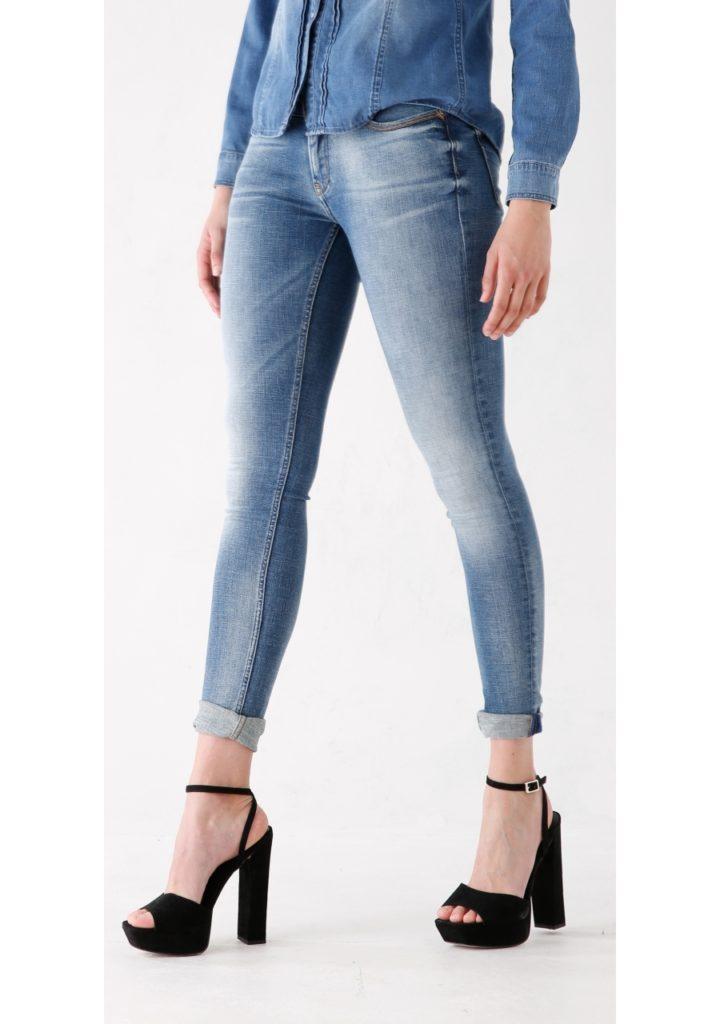 двухцветные женские джинсы
