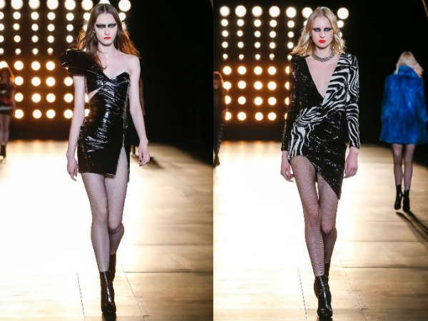 Модные асимметричные платья осень-зима