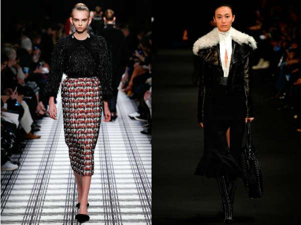 Модные утепленные юбки осень-зима