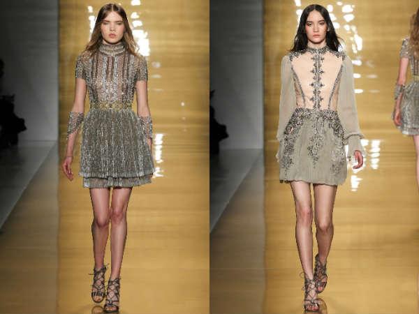 Модные коктейльные платья в стиле барокко осень-зима
