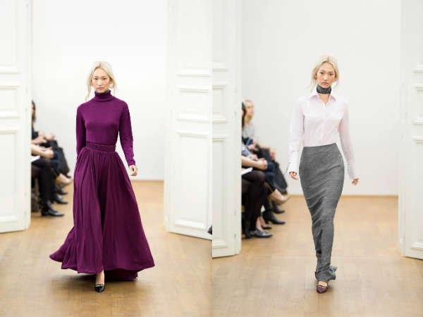 Модные юбки осень-зима: актуальная расцветка