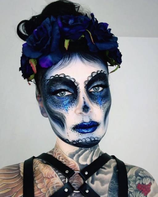 Грим черепа на Хэллоуин