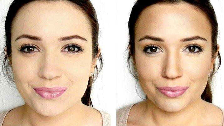 как уменьшить нос косметикой