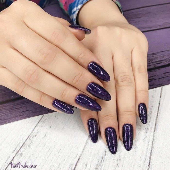 фиолетовый маникюр 2018
