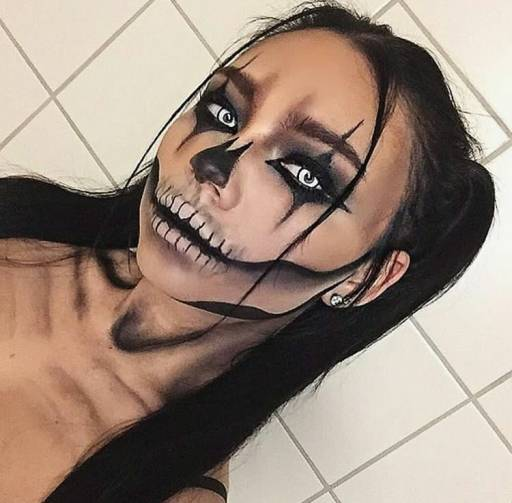 Грим клоуна на Хэллоуин