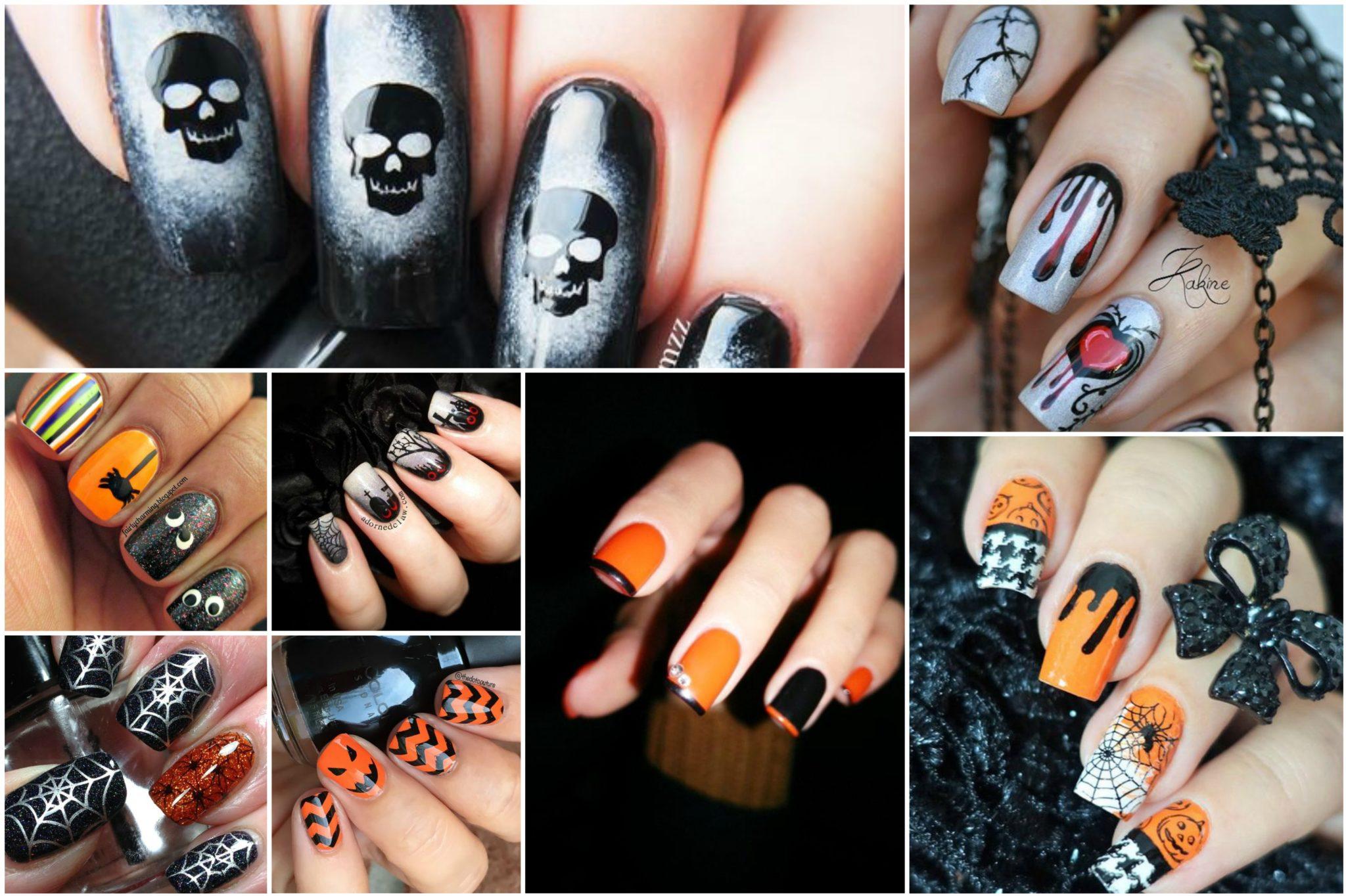 Маникюр для Хеллоуина