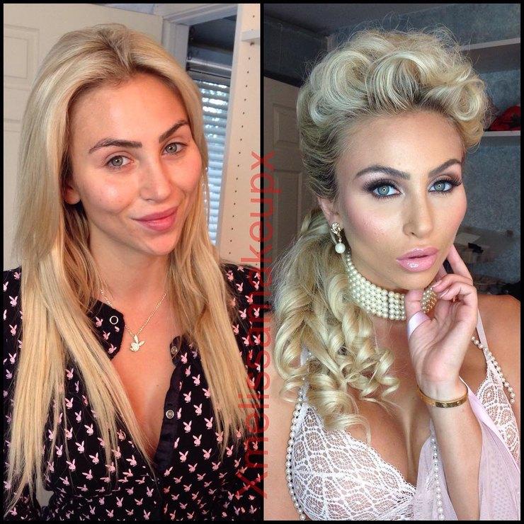 модели Playboy без макияжа