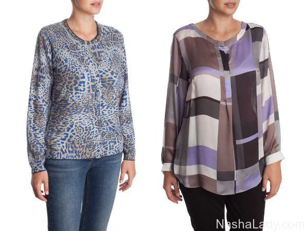 Блузы для полных осень-зима 2015-2016