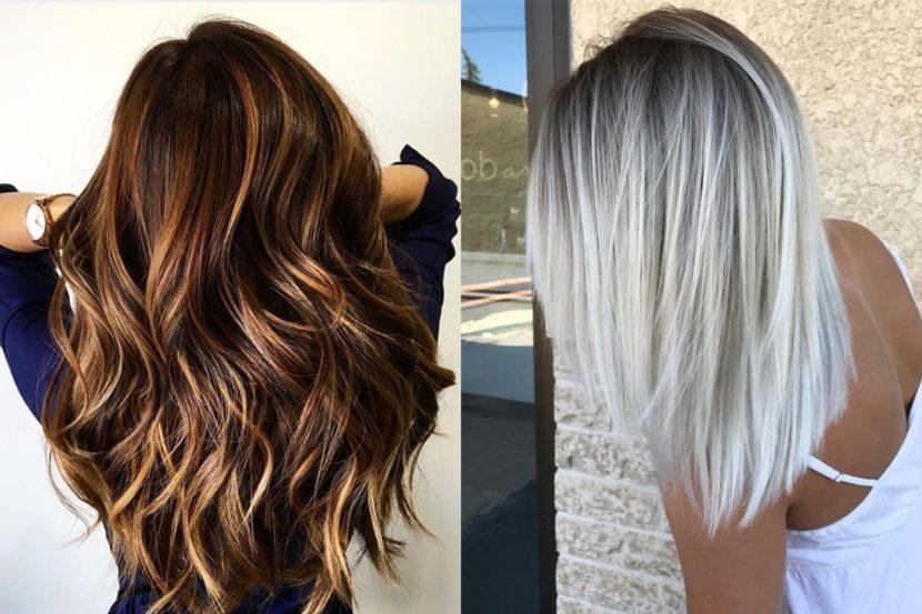 Модное мелирование волос – осень