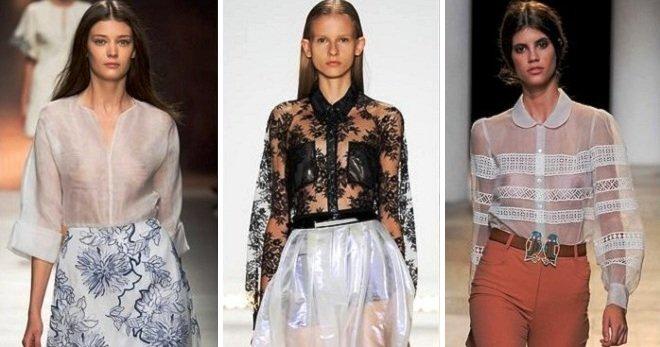 полупрозрачные блузы