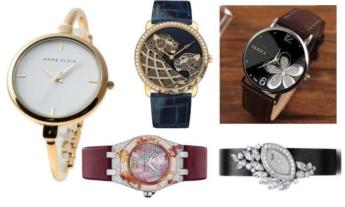 женские часы пейзаж на циферблате