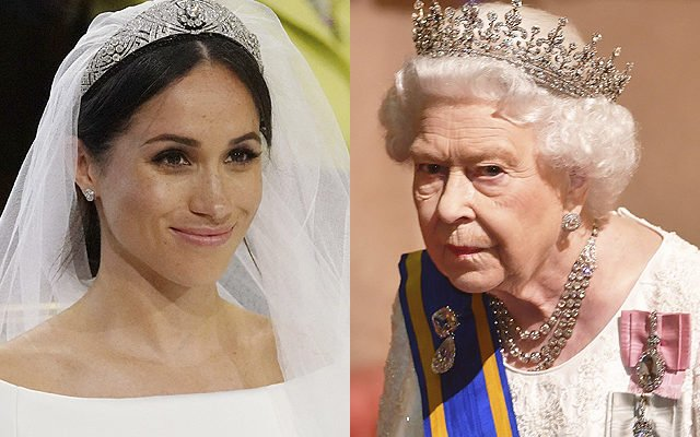 Меган Маркл и королева Елизаветы II