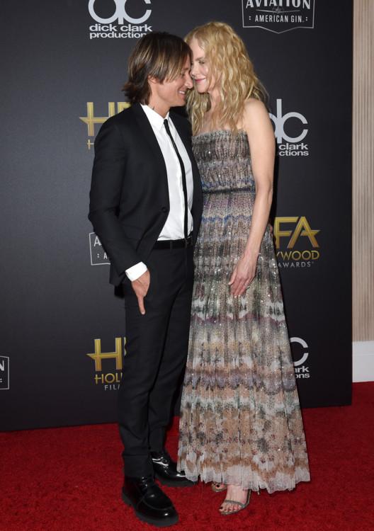 Николь Кидман в Christian Dior и муж Кит Урбан