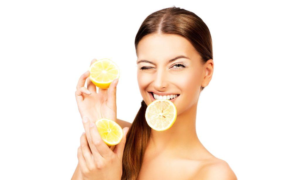 Маска лимон и яйцо
