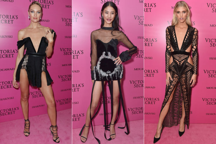 Джиджи и Белла Хадид, Кэндис Свейнпол, Винни Харлоу и другие топ-модели на афтепати шоу Victoria's Secret