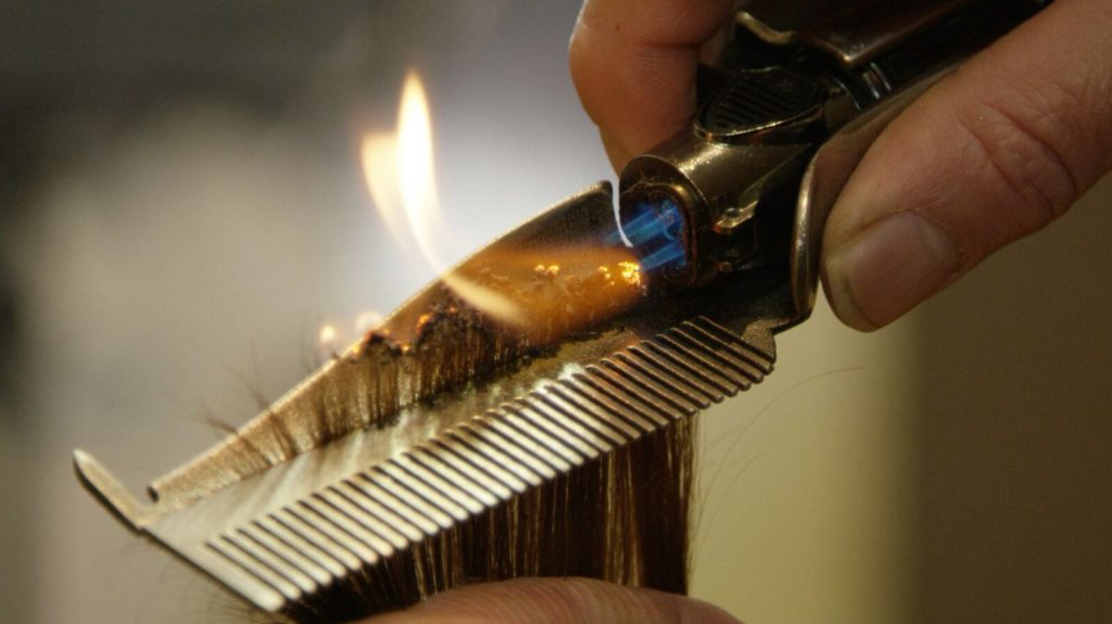 Эффективное лечение волос огнем