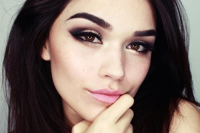 Вечерний макияж smoky eyes