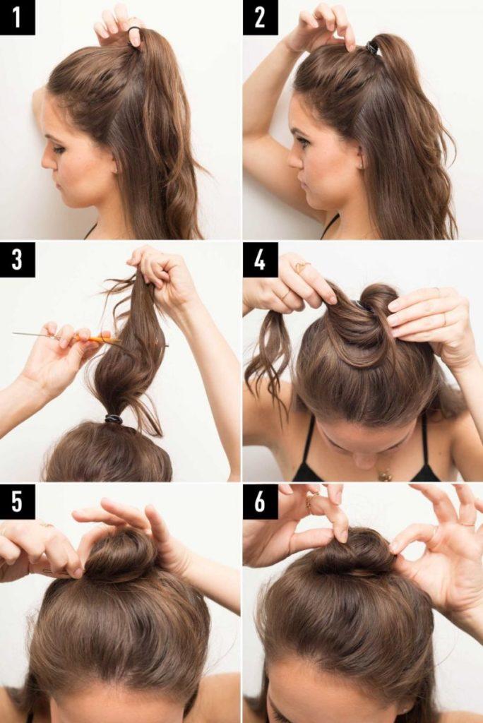 Как сделать красивую гулькуна голове