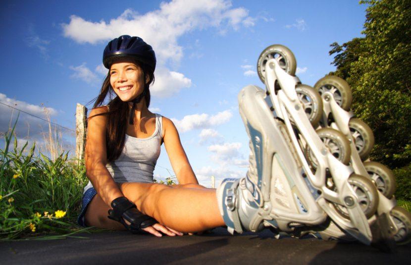 Катание на роликовых коньках и прогулки на велосипеде вместо занятий в спортзале