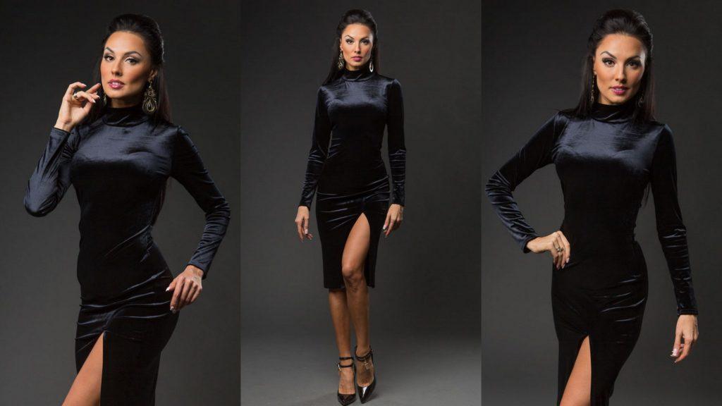 бархатное платье фото