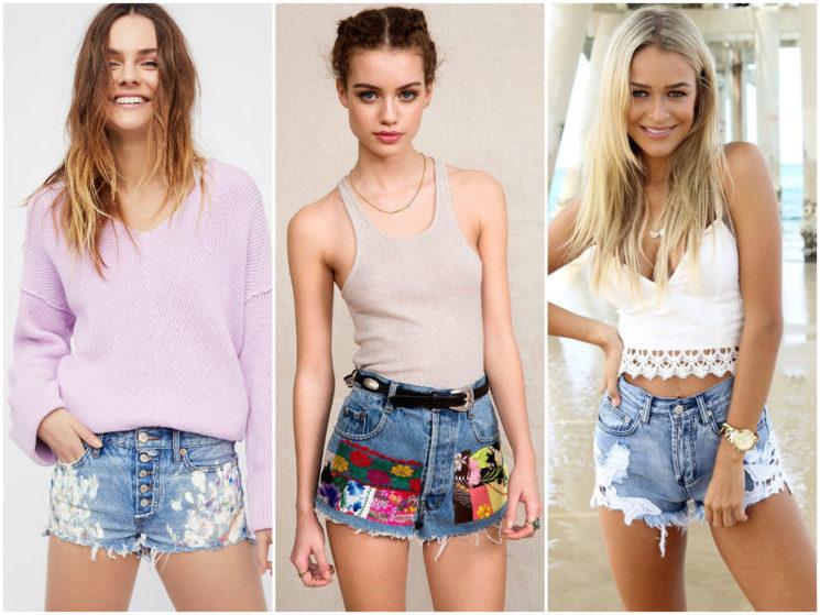 Модные джинсовые шорты на лето