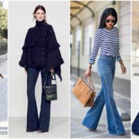 С чем носить брюки клеш?