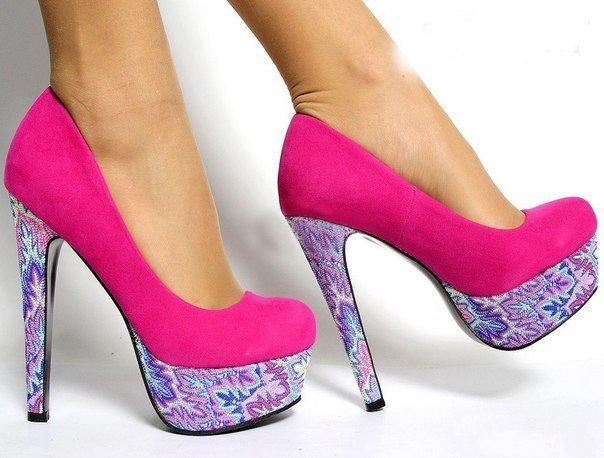 весенние туфли на каблуке