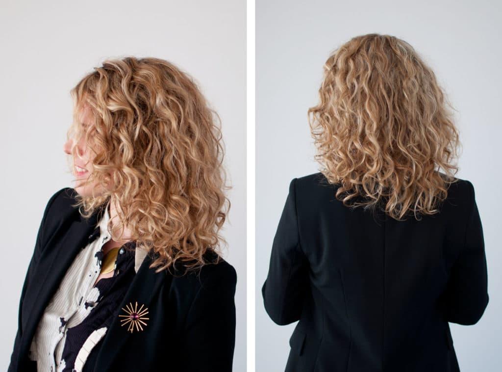 химическая завивка волос фото до и после
