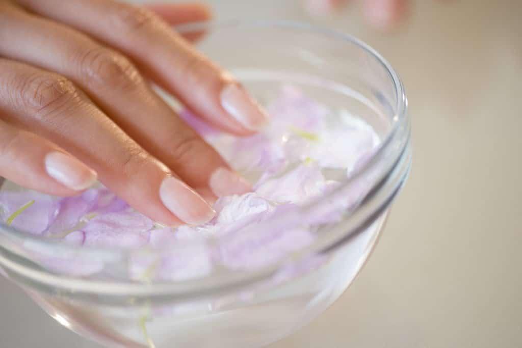 ванночка для ногтей с солью