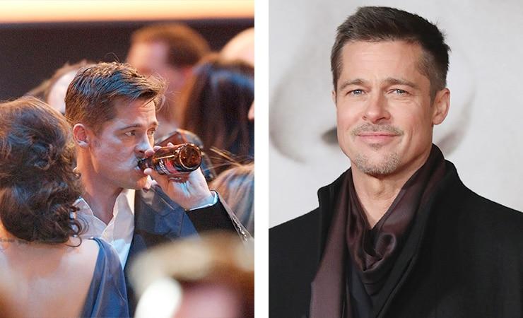 Брэд Питт фото до и после алкогольной завимисоти